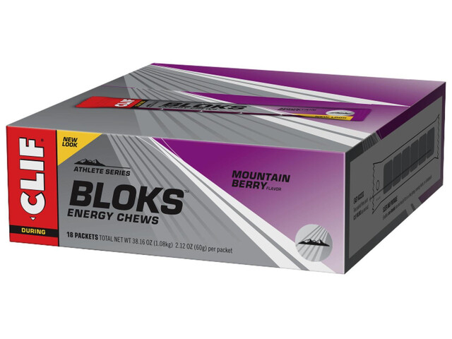CLIF Bar Shot Bloks Box Mountain Berry 18x60g